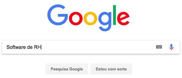 """Imagem de busca de """"software de RH"""" no Google"""