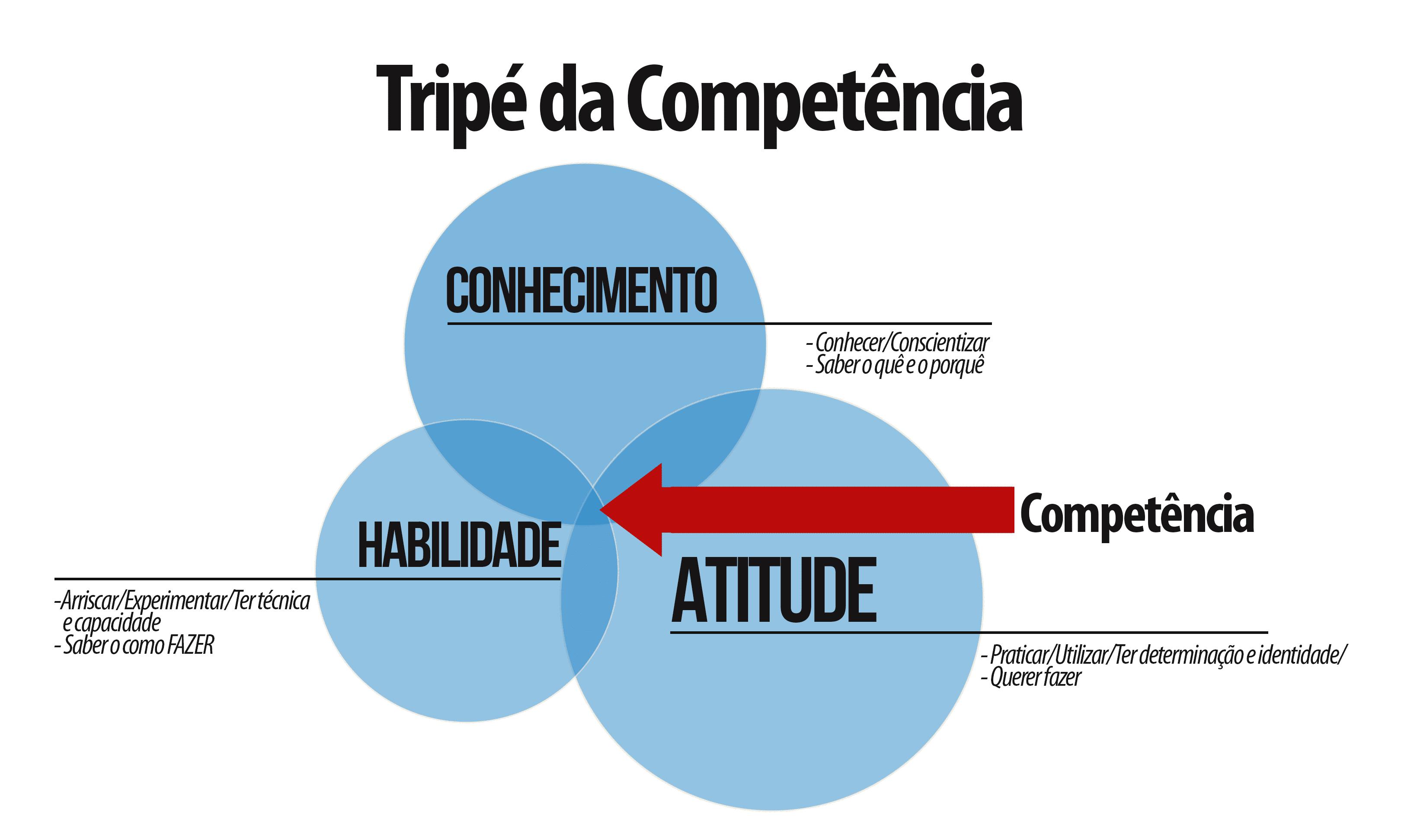 Imagem de um gráfico de CHA: competências, habilidades e atitudes