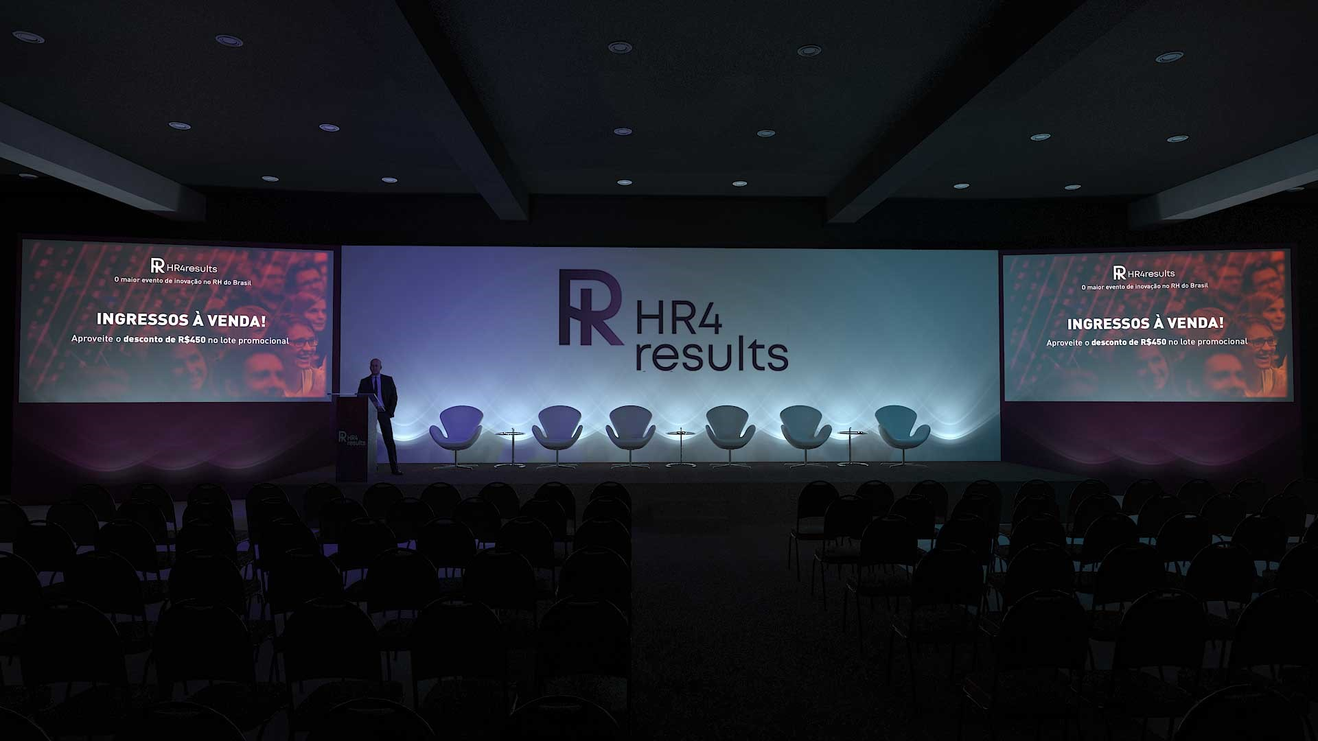 Imagem da área do evento do HR4results para networking do RH