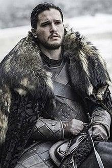 Imagem do personagem Jon Snow, da série game of thrones