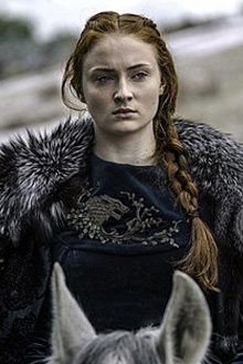 Imagem da personagem Sansa Stark, da série game of thrones