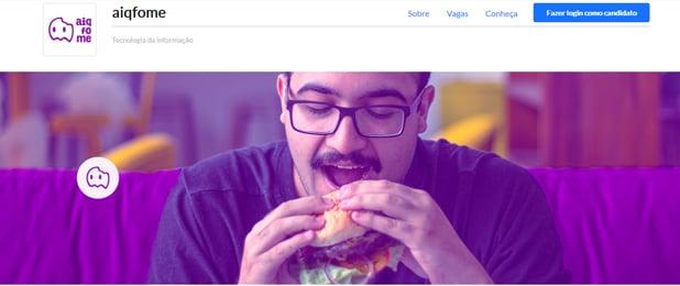 Imagem da capa da página de carreiras da aiqfome