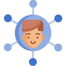 Imagem de uma pessoa, representando as áreas de aplicação da gestão por competência