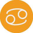 Imagem do signo de câncer, representando o recrutamento por signo