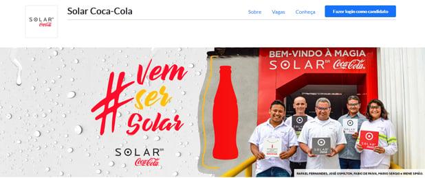 Imagem da capa da página de carreiras da solar coca cola