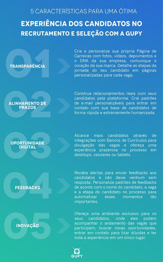 Infográfico explicando sobre como a experiência do candidato é importante para contratar o funcionário certo