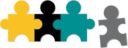 Imagem de peças de quebra-cabeça, representando perguntas de fit cultural a candidatos