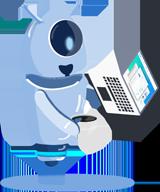 Imagem da mascote da Gupy, mostrando sobre a Busca booleana