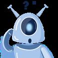 Imagem da mascote Gaia com dúvidas