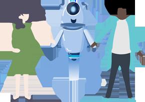 Imagem da mascote da Gupy representando o recrutamento inteligente para gestores