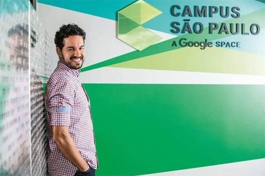 Imagem de André Barrence no Google Campus, sobre a inovação no RH.