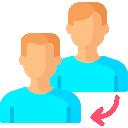 imagem estilizada de duas pessoas, sobre indicadores de sucessão