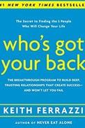 Imagem de capa do livro 'who's got your back', de keith ferrazzi sobre networking do RH