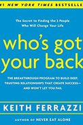 Imagem de capa do livro 'who's got your back', de keith ferrazzi sobre networking do RH