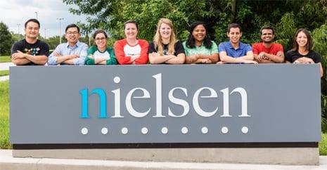 Imagem de funcionários da empresa nielsen, analisados pelo people analytics