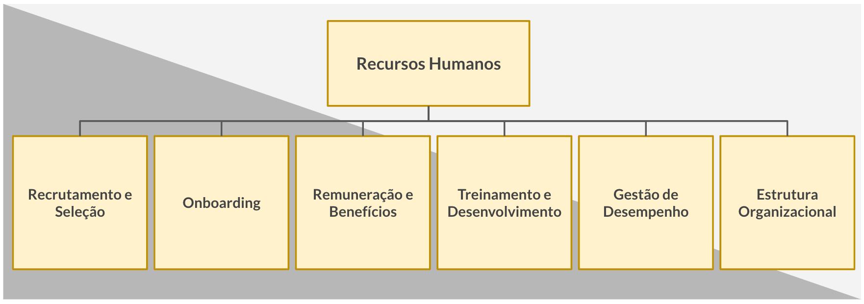 imagem de uma hierarquia de rh tradicional