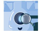Imagem da mascote da gaia representando a avaliação180 graus
