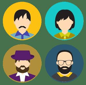 Imagem do teste IAC, representando os 5 tipos de teste de perfil