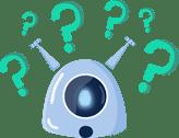 Imagem da mascote da gupy, representando as dúvidas em Recursos Humanos