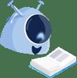 Imagem da mascote gaia, sobre processos de admissão