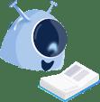 Imagem da mascote da gaia representando a cultura organizacional