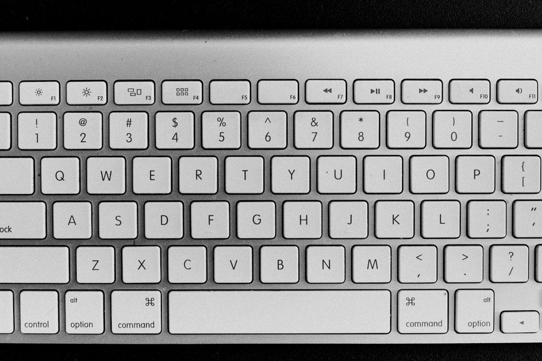 Imagem de um teclado, representando o guia de descrição de cargo