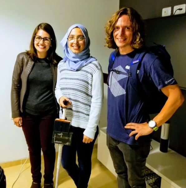 Mariana Dias na viagem a Israel